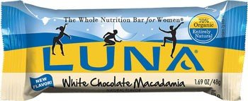 Luna Bar Wht Choc Mcdma C Size 15ct Luna Bar White Choc Macadamia 1.69z