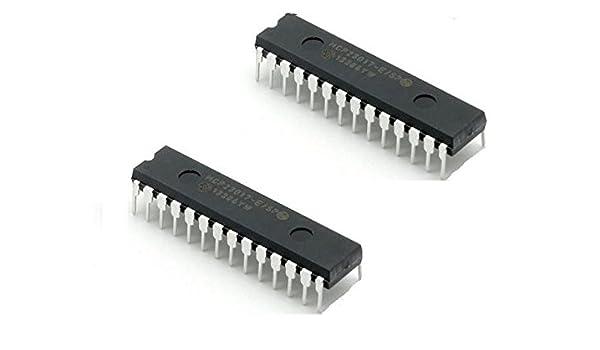 5PCS MCP23017-E//SP DIP-28 MCP23017 16-Bit I//O Expander with I2C Interface IC
