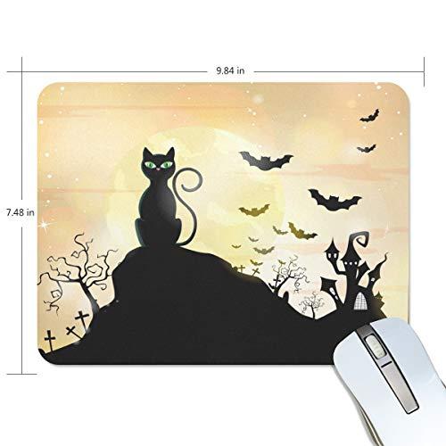 Free-Vector-Silhouette-Halloween-Wallpaper Non-Slip Rubber Mousepad Gaming Rectangle Mouse Mat