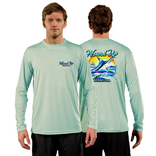 - Red Tuna - Wound Up Performance Quick Dry Long Sleeve Fishing Shirt for UV UPF 50+