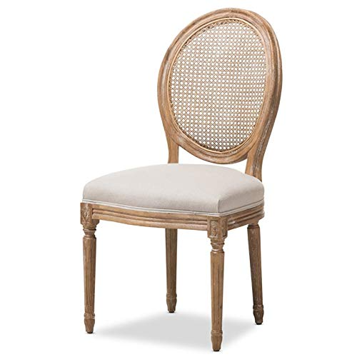 Baxton Studio Dining Chair with Round Cane Back ()