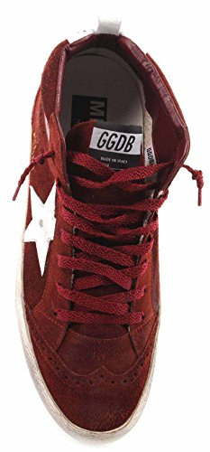 Golden Goose Scarpe Sneakers Uomo Mid/Star Wine Suede White Crash Star Italy New