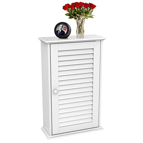 Topeakmart Bathroom Kitchen Wall Mounted Single Louvered