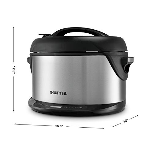 Gourmia 1-Hour Hot & Smoker, Cooker, Cooker and 6.5 Qt with Timer & Removable