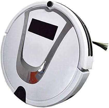 Aspirateur Robot, Bonne TC-750 intelligent Aspirateur Écran tactile Ménage Balayer Nettoyage robot avec télécommande (noir), Travaux sur les tapis et sols durs (Color : Red) White
