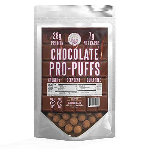 (Pro-PuffsTM Chocolate High Protein Puffs | Low Carb, Keto Friendly, Gluten Free, Soy Free, Peanut Free | (Chocolate, Single))