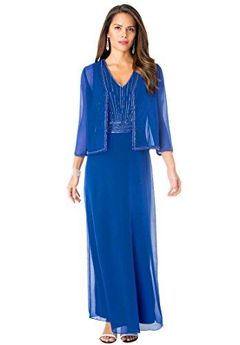 Roamans-Womens-Plus-Size-Long-Beaded-Jacket-Dress