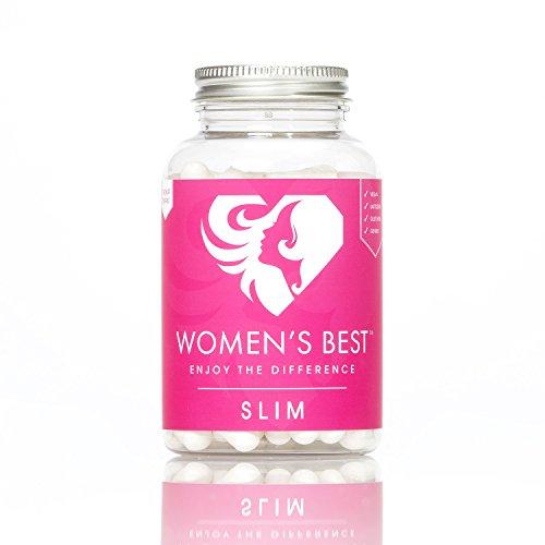 WOMEN'S BEST Slim Caps   Stoppt Heißhungerattacken   Fördert den Stoffwechsel & hilft bei der Gewichtsreduktion   120 vegane Kapseln  Laktosefrei   Glutenfrei   Unterstützt den Blut-Cholesterinspiegel sowie Blutzucker   Hergestellt in Deutschland   Genfrei, ohne Aspartam und Vegan