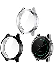 EZCO 3-Pack Screen Protector Case Compatible with Garmin Vivoactive 4S 40mm, Full Coverage Soft TPU Case Protective Screen Cover Bumper Frame for Vivoactive 4S Smartwatch