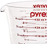 Pyrex SYNCHKG039125 4 Measuring Cup, Clear with Red