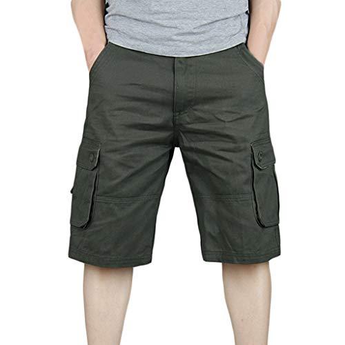 Holywin Homme Multi En Armée Mode Salopette De Style Coton Verte poches Pantalon Nouveau rEFn1qrS