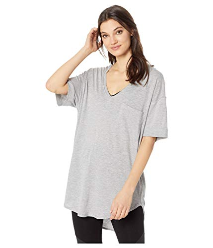 Free People Women's Ronnie Tee, Heather Grey, X-Small