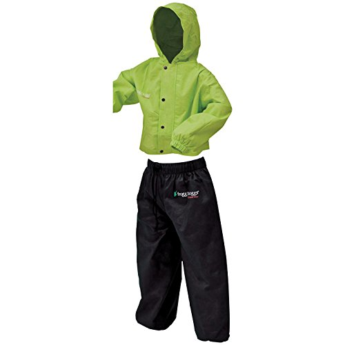 Frogg Toggs PW6032-148LG Polly Woggs Youth Rain Suit, Hivis Green