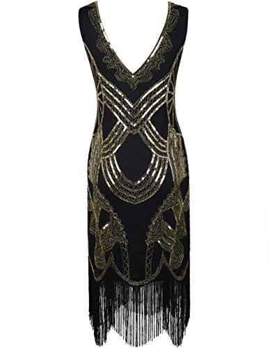 Cocktail Oro Vestito Deco Frange Paillettes Art Tutto PrettyGuide Perlina Flapper Gatsby Donne 1920s Da SUCCxPFq