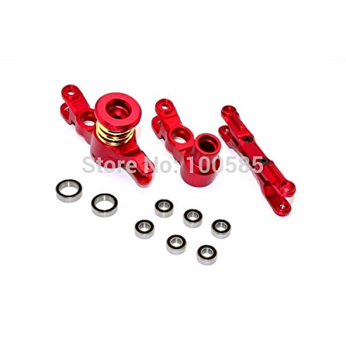 Hockus Accessories 1/5 TRAXXAS X-MAXX Alloy Steering Assembly Set with Bearings TXM048 - (Color: Light Grey) Alloy Steering Assembly Set