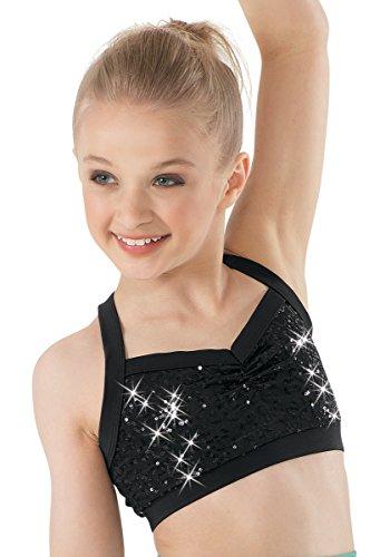 Balera Dance Bra Top Sequin Black Child ()