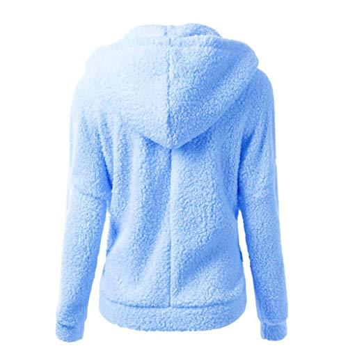 Hiver X3 blau Capuche Femmes À Décontracté Jeune Outdo Chandail Laine Mode Saoye Élégant Chaude Dames Manteau Outwear BKATqy