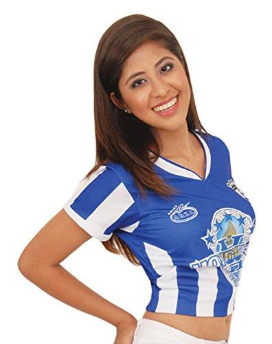Honduras Women Soccer Jersey Exclusive Design (Medium, Blue)