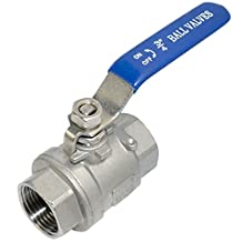 """3/4"""" Full Port Ball Valve Female 2Pcs Type(Not Mean 2 Pieces Of The Product) SUS SS 304 Vinyl Handle WOG1000 BSPT Hot"""