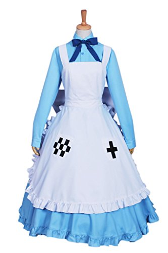 Nyotalia Cosplay Costumes (FancyStyle Axis Powers Hetalia Cosplay Nyotalia Costume Dress Blue Female S)