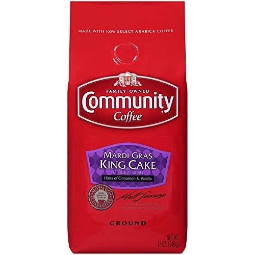 Community Mardi Gras King Cake Premium Ground Coffee, 12 Ounce Bag, Pack of 3]()