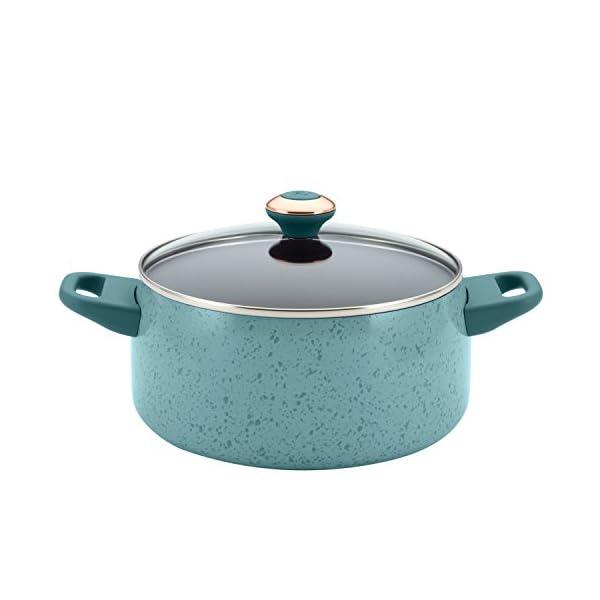 Paula Deen Signature Nonstick Cookware Pots and Pans Set, 15 Piece, Aqua Speckle 3