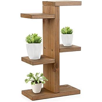 Amazon Com Mini Plant Stand Uhbgt Wooden Diy Tabletop