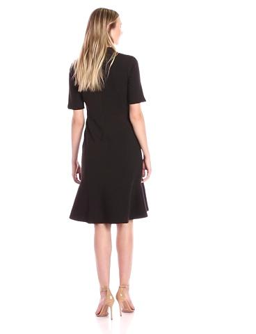Brand Lark /& Ro Womens Flutter Sleeve Double V Neck Sheath Dress