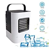 LtrottedJ Air Conditioning Fan,Fefrigerator Small Air Conditioning Air Cooler Household Small USB Rechargeable Air Conditioning Fan Mini Portable Refrigerator Air Cooler