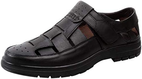 [レンシー] サンダル メンズ ビジネスサンダル 本革 カジュアルシューズ 紳士用 防滑 通気性 革靴 職場用 クッション性 フォーマル おしゃれ 紳士サンダル