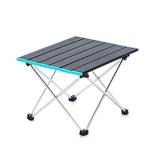 XRFF Tabla acampa Portable, acampa Plegable Mesa con sillas de Super portantes adecuados para Patio Barbacoa
