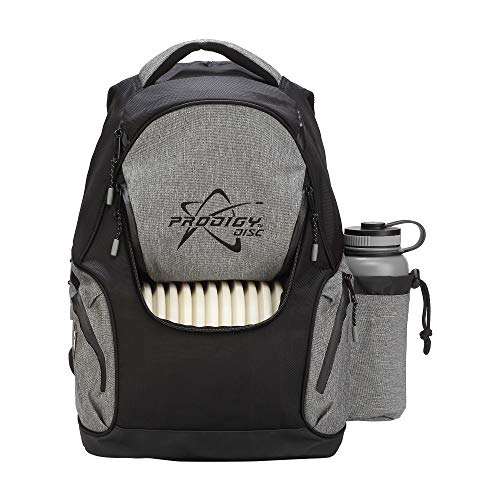 Prodigy Disc BP-3 V2 Disc Golf Backpack - Fits 17 Discs - Beginner Friendly, Affordable (Black/Heather Gray) by Prodigy Disc (Image #2)