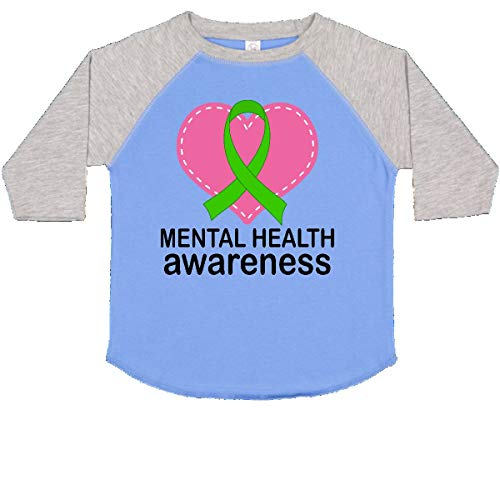 6252a74f0 inktastic - Mental Health Awareness Toddler T-Shirt 4T Blue and Heather  12cb2