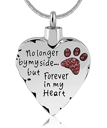 Eternally Loved No Longer by My Side But Forever in My Heart Memorial Cremation Necklace for Mom,Dad,Pet Ashes Urn Pendant