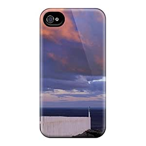 Durable Defender Case For Iphone 4/4s Tpu Cover(newfounl Lighthouse Canada)