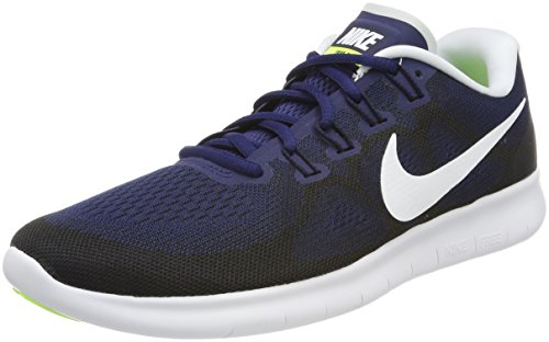 NIKE Men's Free RN 2017 Running Shoes-Binary Blue/White-9.5 by NIKE