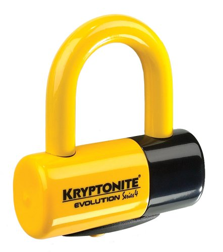 Kryptonite Evolution Series 4 Bicycle Disc Bike Lock (Yellow)