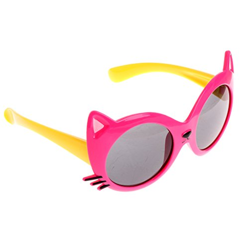 Bettal Kids Cat Design UV Protection Sunglasses for Child Age 4-12 (Hot - Hot Sunglasses Pink Bulk