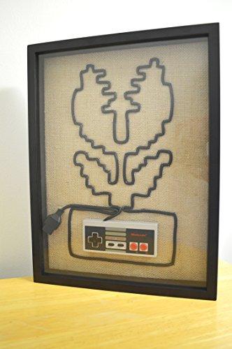 Mario Piranha Plant - Nintendo NES Wall Art Shadow Box by 1UP Forge