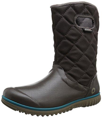 Bogs Women's Juno Mid Winter Snow Boot - Chocolate - 8 B(...