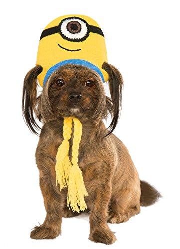 Minion Stuart Knit Dog Headpiece, Medium/Large (Minion Dog Costumes)