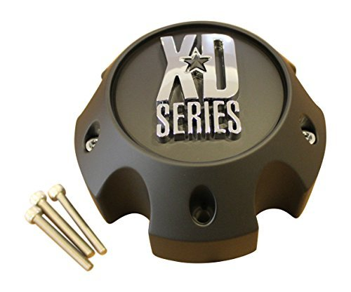 XD-SERIES-KMC-Matte-Black-5-Lug-Wheel-Rim-Center-Cap-1079L145A