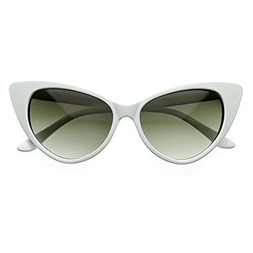 vintage Blanco de moda de de mod Gafas de MUJERES KISS® ROCKABILLY El las fresco retro OJO sol la NIKITA GATO HwCZWCnq