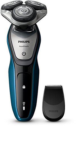 Price comparison product image Philips Aquatouch S5420/06, Wet And Dry Men's Electric Shaver With Smartclick Precision Trimmer