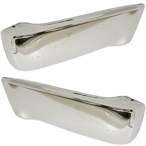 (Bumper End Compatible with Toyota 4Runner 90-95 Rear Right and Left Side Chrome)