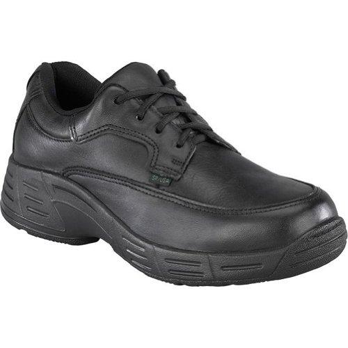 Florsheim Womens Cuir Noir Chaussures De Travail Postal Classic Oxfords Noir