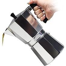 Euro-Home - CaffeXspress 6 Cup Aluminum Espresso Coffee Maker - Barista quality espresso maker.