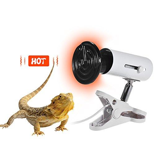 Decdeal 3pcs/ Set Heat Emitter Ceramic Lamp Bulb & Lamp Holder & Temperature Controller for Reptiles Terrarium by Decdeal