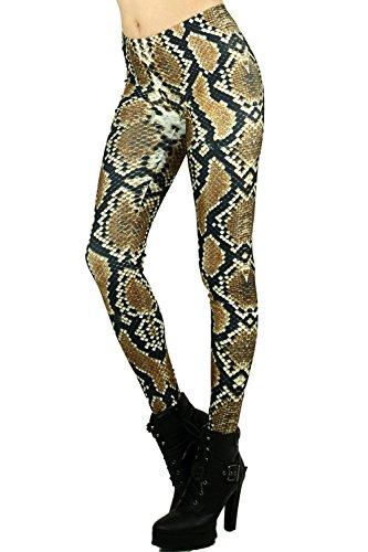 (World of Leggings Sexy Python Leggings XLarge)