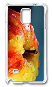 MOKSHOP Adorable fresh apple Hard Case Protective Shell Cell Phone Cover For Samsung Galaxy Note 4 - PC Transparent